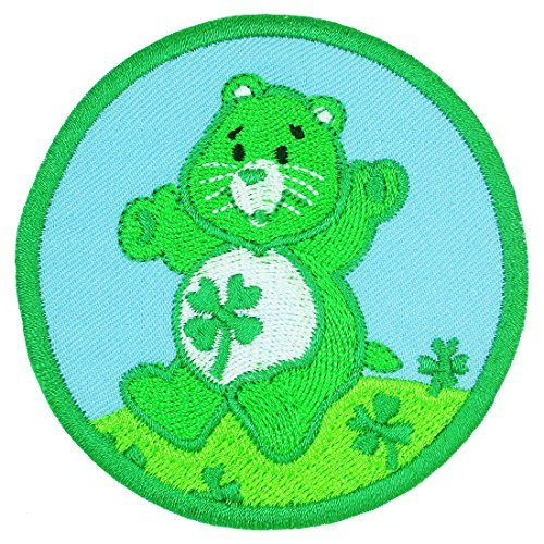 Cute Bear with Clover Leaf Embroidered Badge Iron on Patches by Happy Natt ()
