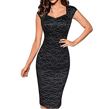 diandianshop Women s Dress Sparkle Glitzy Glam Sequin Short Sleeve Flapper  Party Club Dress (Black C 009f5b295ae