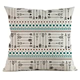 Throw Pillow Covers, E-Scenery Clearance Sale! Arrow Printing Square Decorative Throw Pillow Cases Cushion Cover for Sofa Bedroom Car Home Decor, 18 x 18 Inch (G)