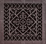"Decorative Grille, Vent Cover, or Return Register. Made of Urethane Resin to fit over a 16''x16'' duct or opening. Total size of vent is 18""x18''x3/8'', for wall and ceiling grilles (not for floor use)."