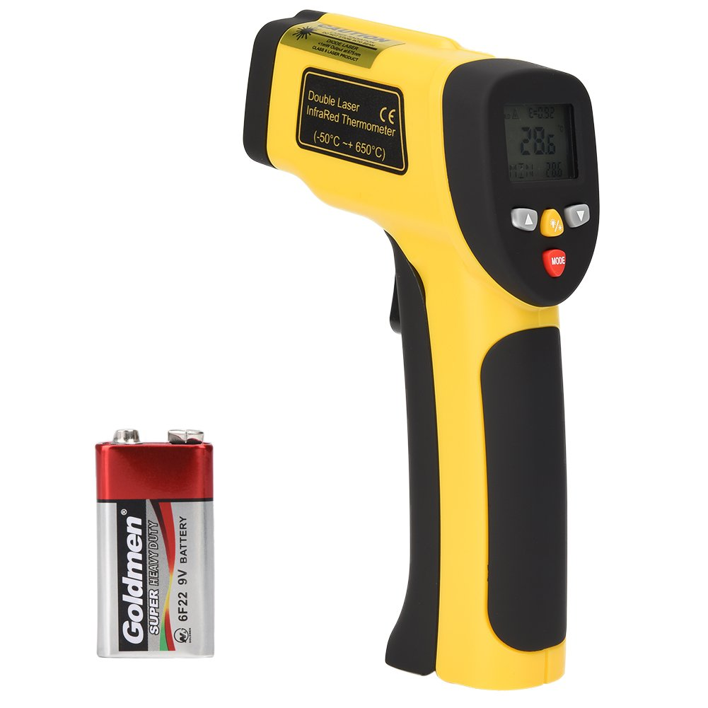 TOOLTOO Non-contact Infrared Thermometer Laser Grip – Dual Lase Digital Infrared Pyrometers Temperature Gun -58°F to 1202°F