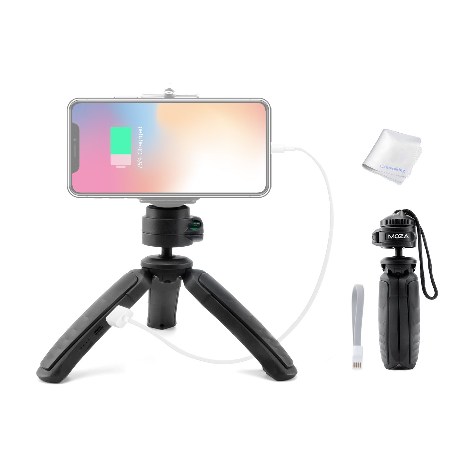 Moza Power Tripod with Built-in Power Bank 3200mAh for Moza Mini-MI Gimbal Convenient to Charge iPhone,Android Smartphone,Camera, Gopro and Other Intelligent Devices Max Payload 3.3lb/1.5kg
