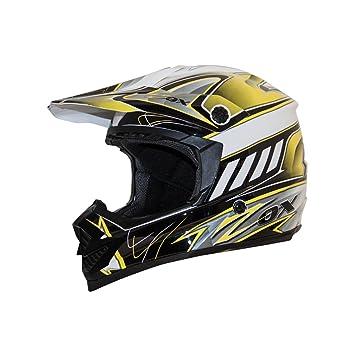 ZOX Rush JR señuelo calle motocicleta – Casco para hombre, color amarillo/negro