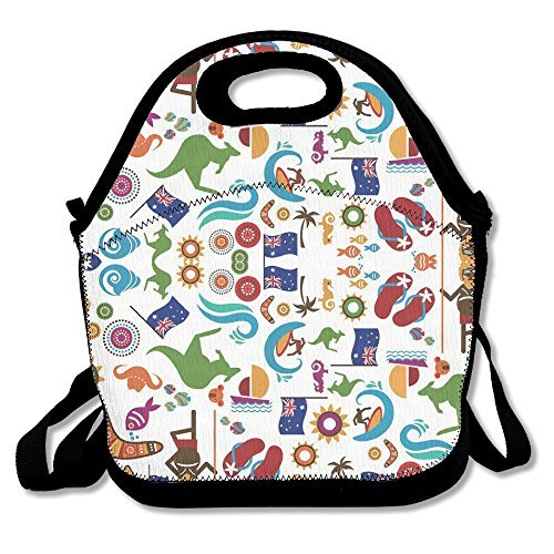 Australia Day Pattern Lunch Bag Adjustable Strap