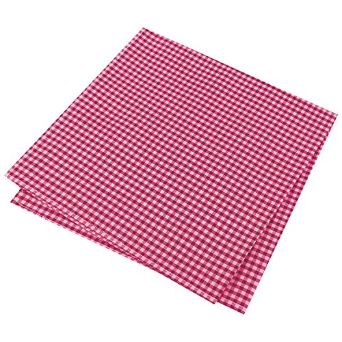 Tommy Hilfiger Men's Gingham Pocket (Red Gingham Pocket Square)