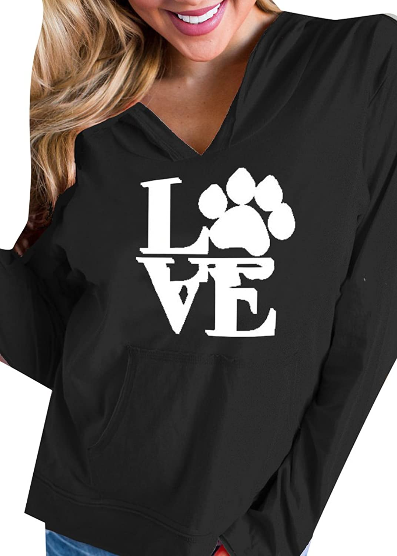 ainr Women's LOVE Letters Printed Long Sleeve Pullover Sweatshirt Hoodies supplier