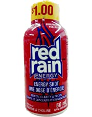 Red Rain Energy Shot Drink 60 ml   4 Packs of 12 - Total of 48 Shots   with Taurine