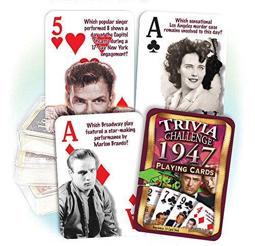 Flickback 1947 Trivia Playing Cards: 70th Birthday or Anniversary Gift - 70th Birthday