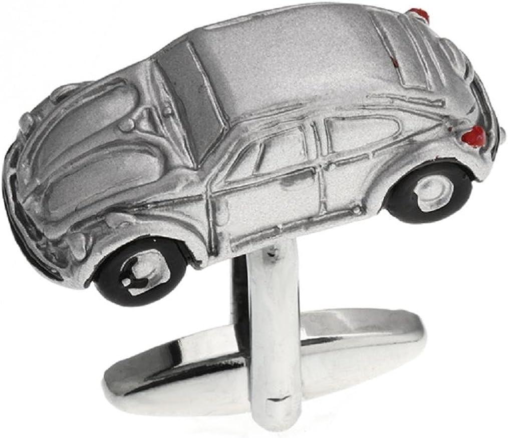 MRCUFF Iconic Car Beetle Pair Cufflinks in a Presentation Gift Box & Polishing Cloth