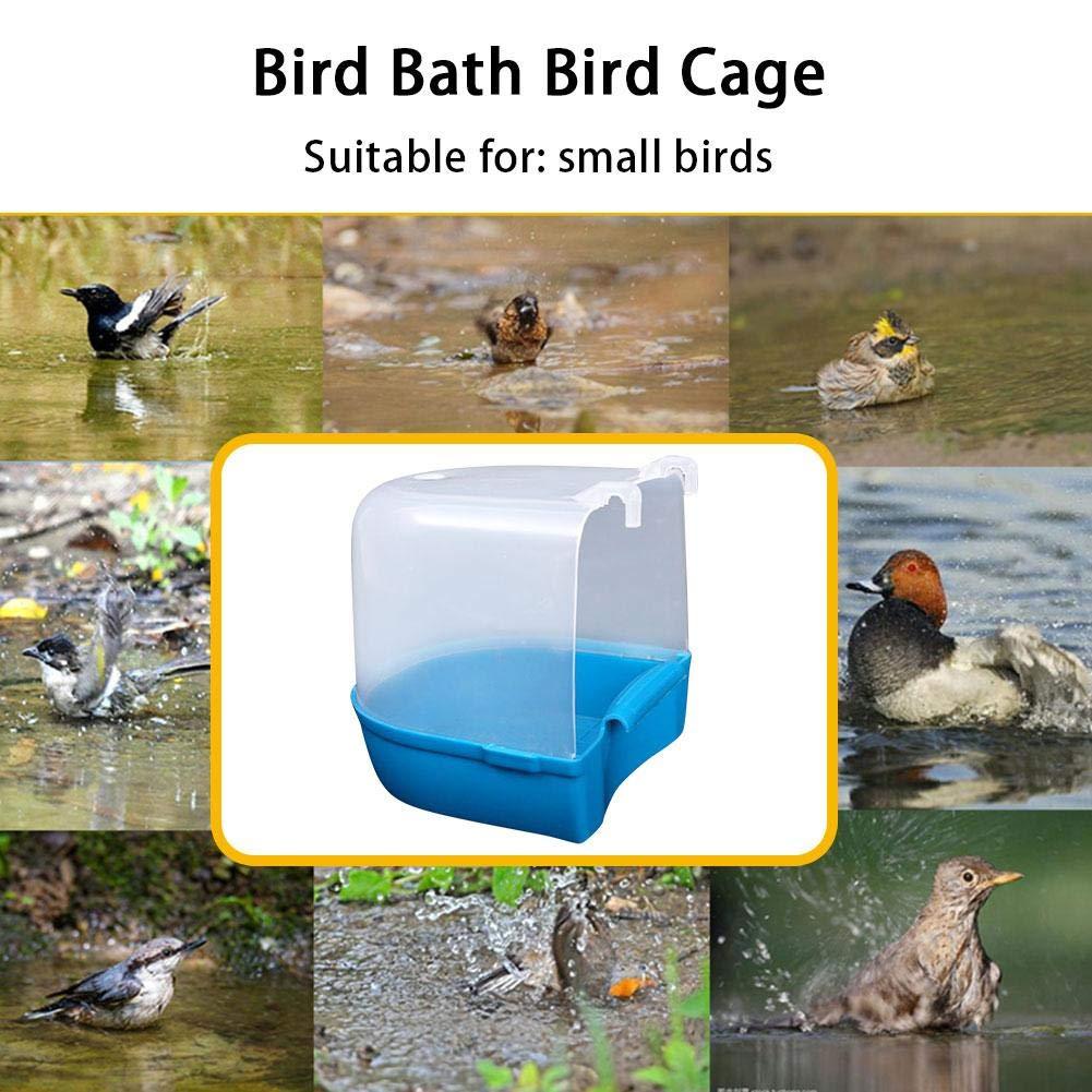 kaersishop Random Color Caged Bird Bath Bird Cage Parrot Supplies Bathing Tub for Small Brids Canary Budgerigar Cockatiel Lovebird
