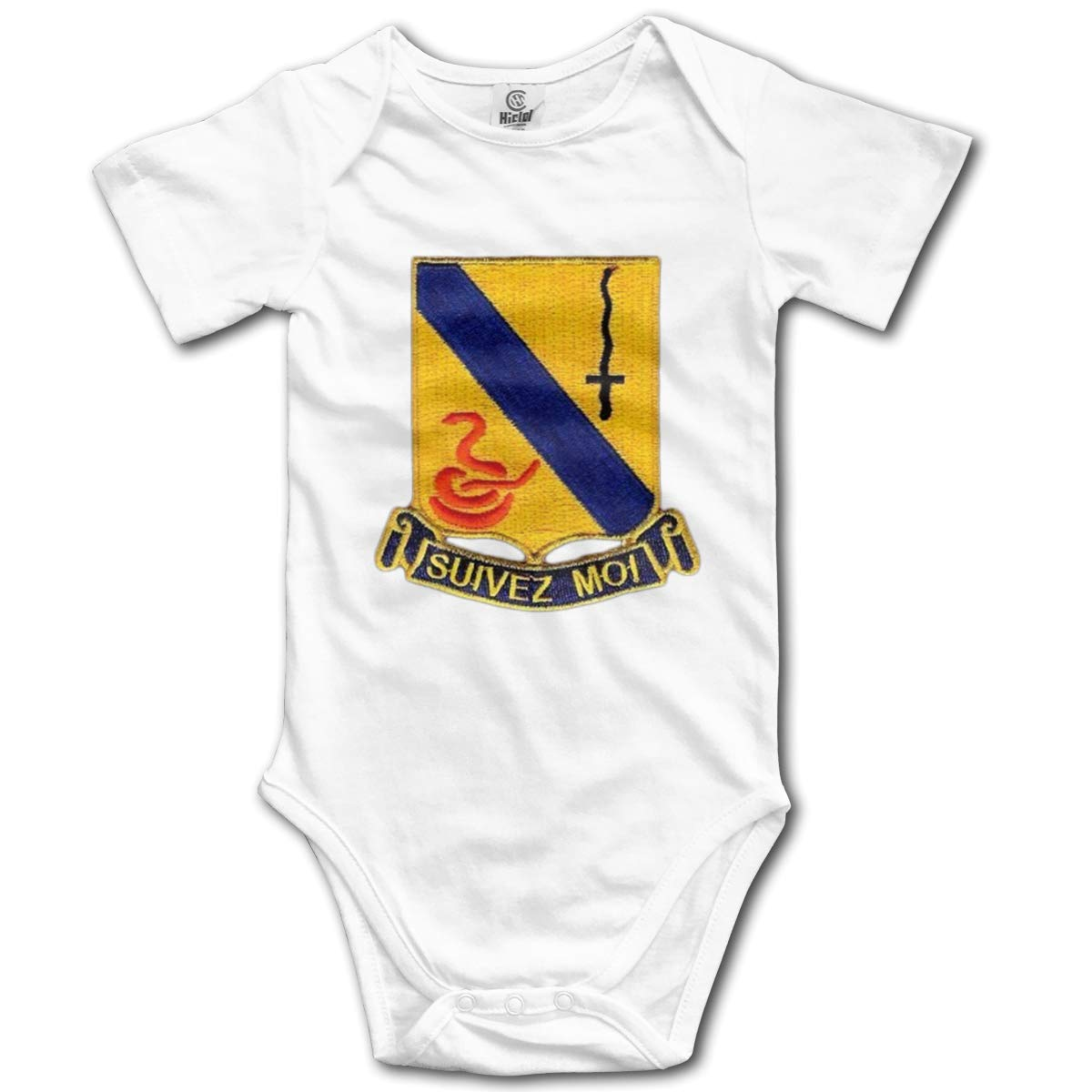 HappyLifea 14th Cavalry Regiment Baby Pajamas Bodysuits Clothes Onesies Jumpsuits Outfits Black