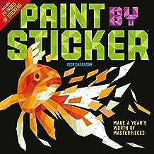 Paint by Sticker Wall Calendar 2019