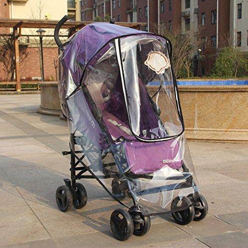 Nrpfell Kinderwagen Regen Abdeckung ungiftig geschmacklos PVC Universal Wind Staubschutz fuer Kinderwagen Kindersportwagen Kinderwagen Zubehoer