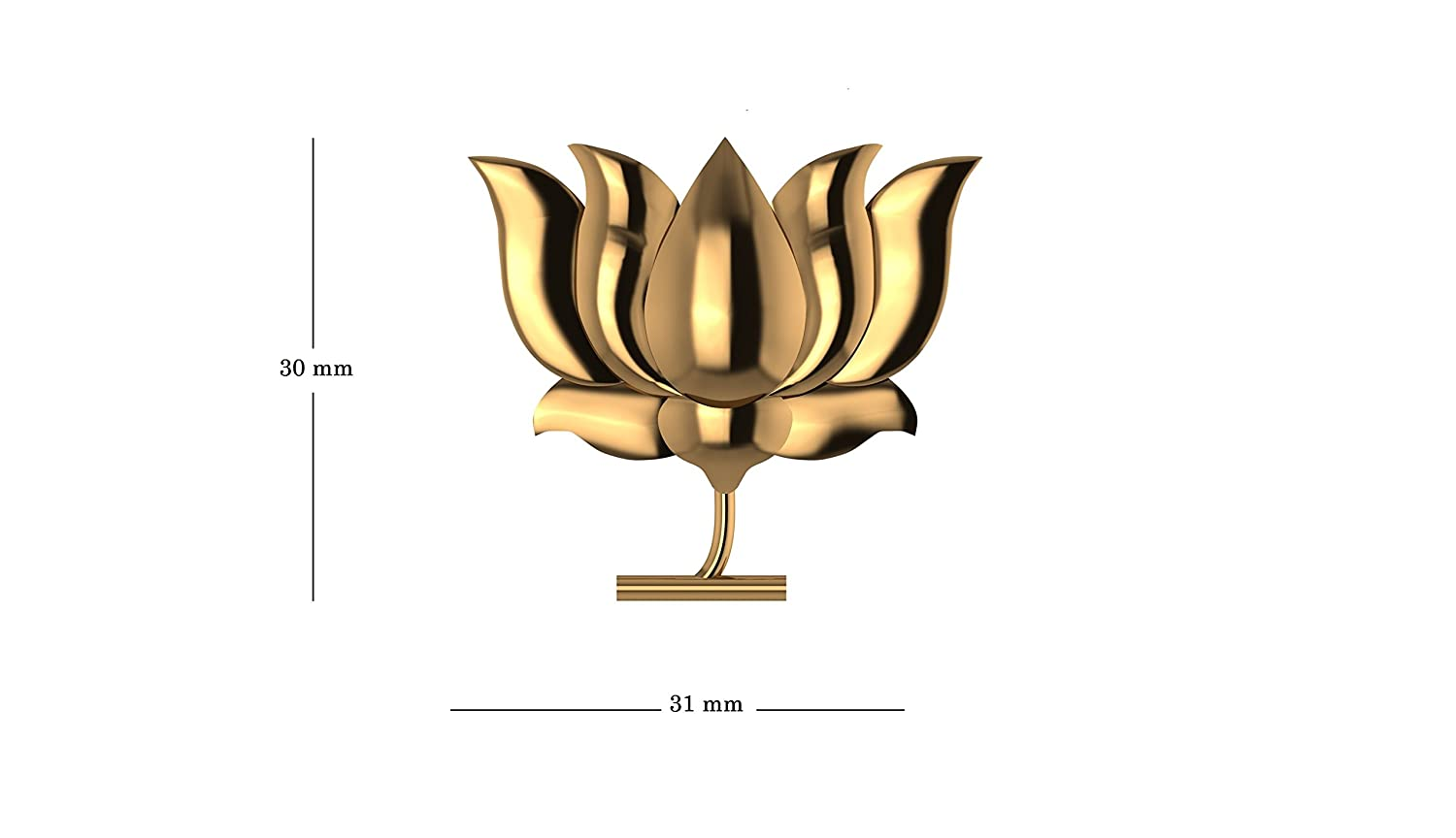 Buy Jewelsera 925 Pure Silver Luxurious Gold Plated Lotus Shape