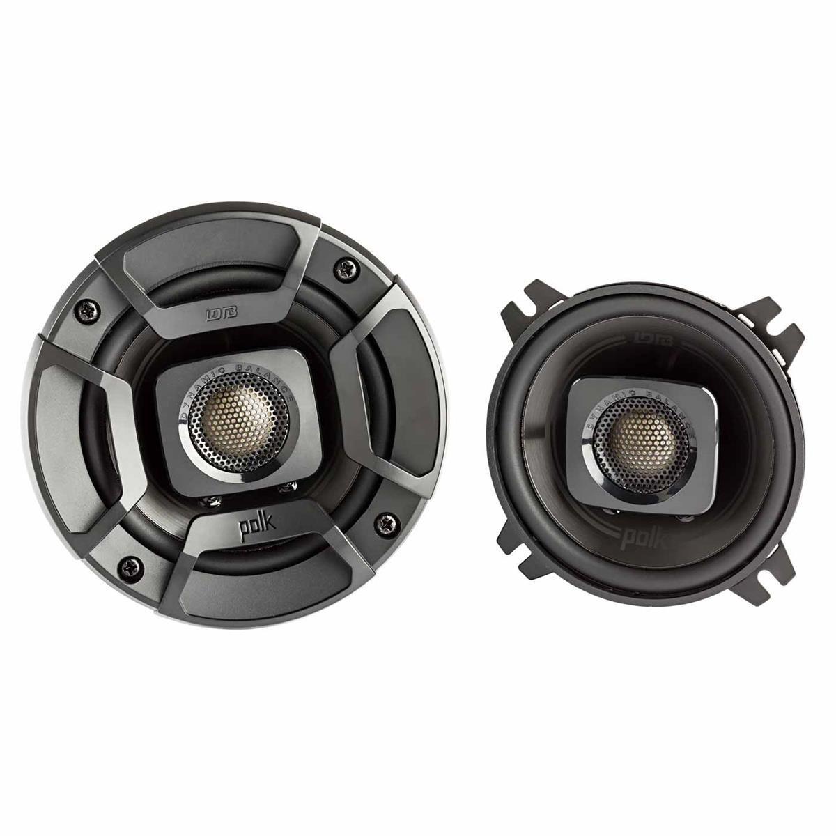 Polk Audio DB402 DB+ Series 4'' Coaxial Speakers with Marine Certification, Black