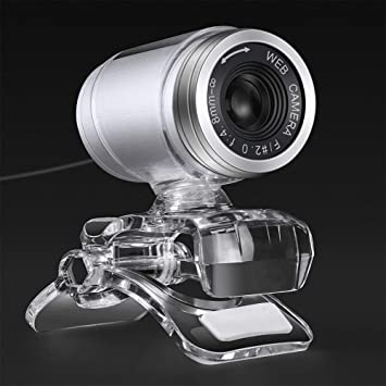 Cimkiz USB Webcam for Skype, Manual Focus Built-in MIC PC Camera Plug and  Play for Computer Laptop MAC (Transparent)