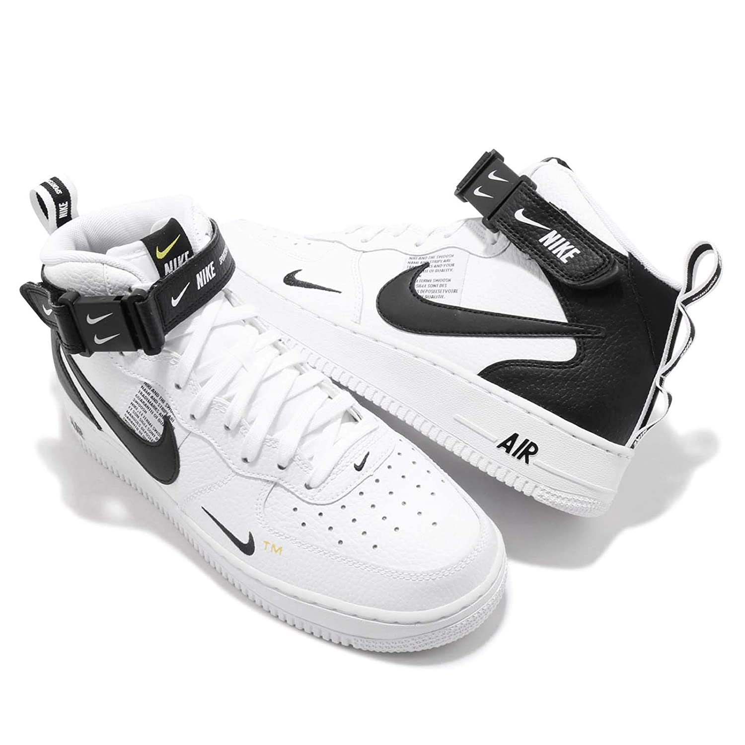 buy popular a82bb ddda1 Nike Men s Air Force 1 Mid  07 Lv8 Gymnastics Shoes, (White Black Tour  Yellow 103), 6 UK  Amazon.co.uk  Shoes   Bags