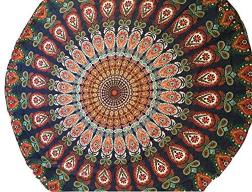 VIASA Mandala Roundies, Beach Throw, Indian Mandala Tapestry, Yoga Mat, Picnic Mat , Table - Store Near Swim Me