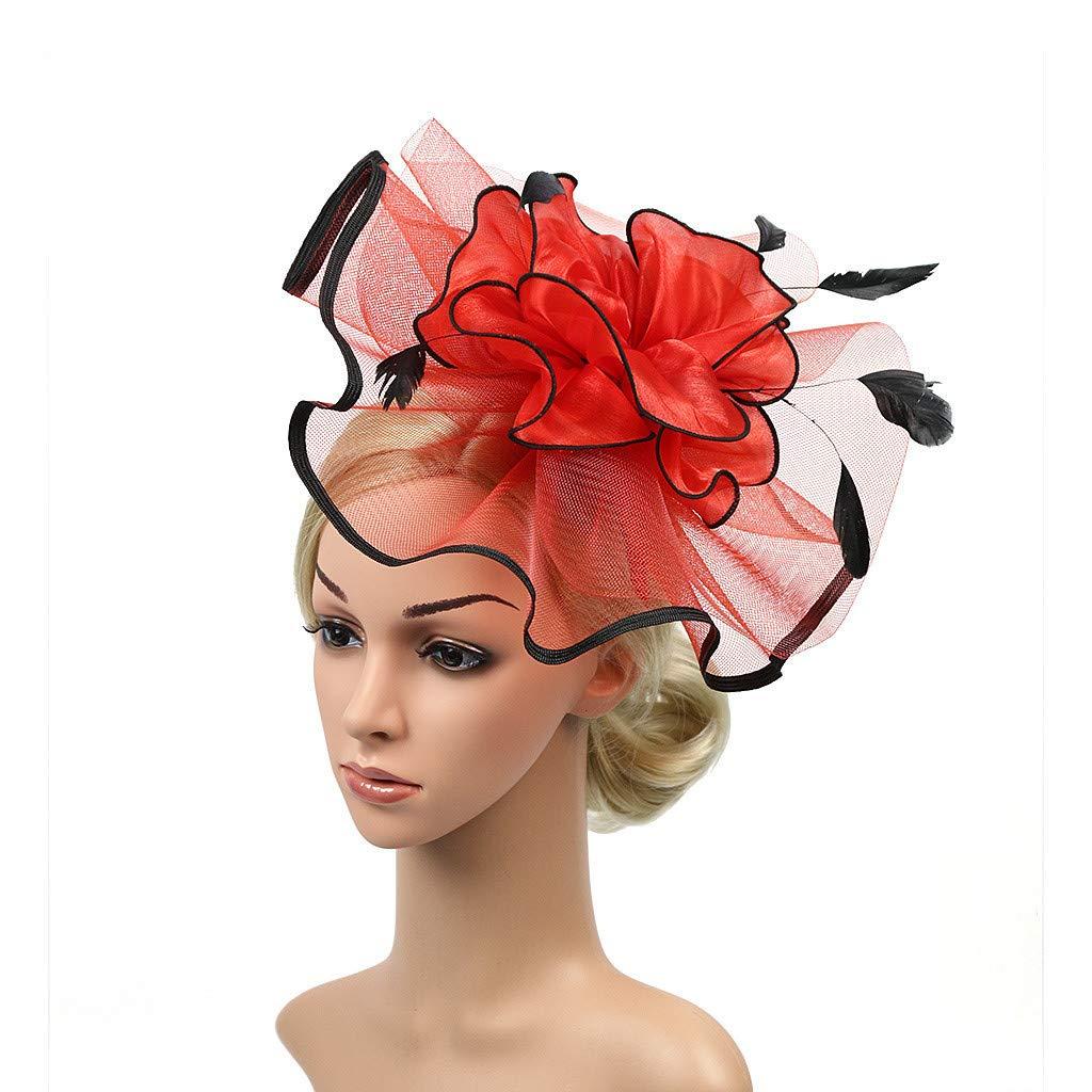 d29c560fd Amazon.com: 💕 Sunbona Hair Clips for Women Girls Headpiece Feather ...