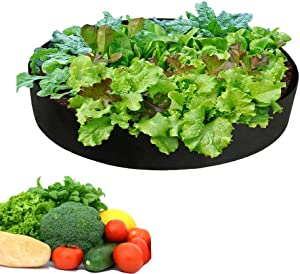 15 Gallon Fabric Raised Garden Bed Plant Grow Bag Felt Fabric Breathable Planting Container for Carrot Onion Flower Vegetable