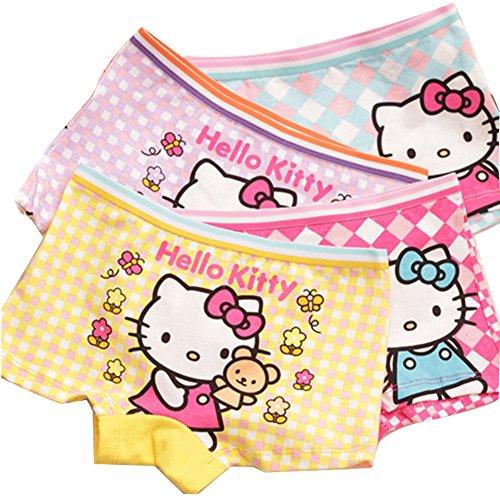 Aliyaer Girls panties toddler Underwear Boxers Briefs Panties 4pack (2-4T, (Boxer Girls)