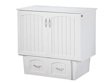 Awesome Atlantic Furniture Nantucket Murphy Bed Chest, Twin, White