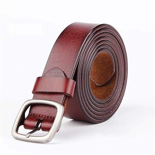Cinturón de Cuero para Mujer Cinturón Delgado Ajustable Cinturón ...