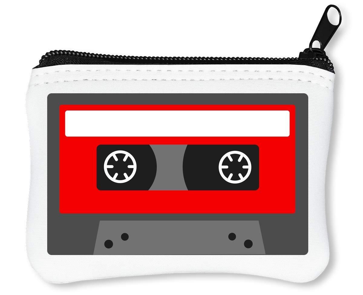 Minimalistic Red Cassette Tape Graphic Billetera con ...