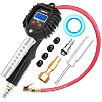 $29 » GOOLOO Upgraded Digital Tire Pressure Gauge, Heavy Duty 255 PSI Tire Inflator and…