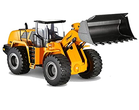 Top Race Diecast Heavy Metal Construction Toy Front Loader Tractor Model  1:40 Scale TR-213D (Front Loader)