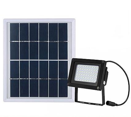 ZJYUAN Luces Solares De Inundación Sensor De Movimiento 54 LED Apliques De Pared Al Aire Libre