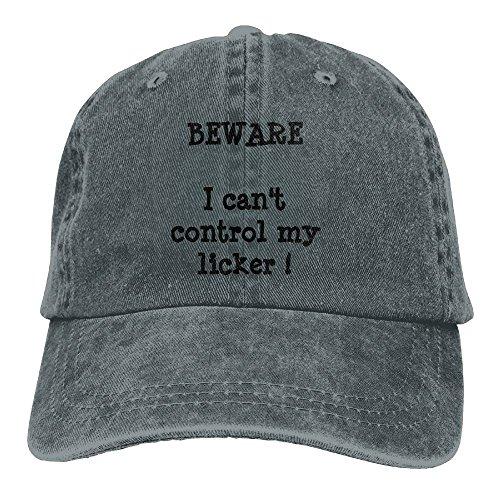 JINHUA Men and Women Cap Beware I Can't Control My Licke Hat Snap-Back Hip-Hop Cap Baseball Hat Head-Wear Cotton Trucker Hats Asphalt