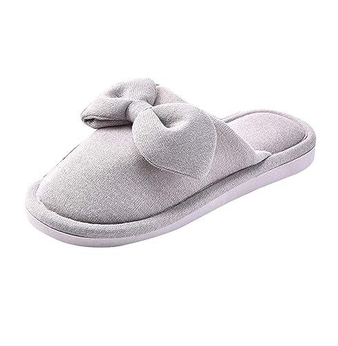 Zapatillas de Estar por Casa Mujer Cálido Suave Antideslizante Pantuflas: Amazon.es: Zapatos y complementos