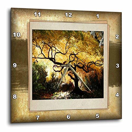 3dRose dpp_34033_2 Bonsai Japanese Maple-Wall Clock, 13 by 13-Inch