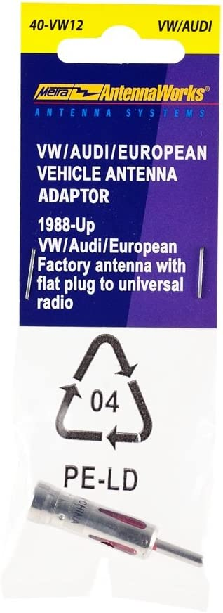 VWAB Metra Electronics 40-VW12 Factory Antenna Adapter to Aftermarket Radio Adapter for Select 1988-2005 Audi//BMW//Mercedes//VW Vehicles