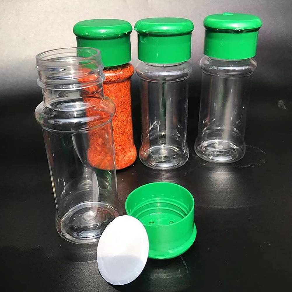in plastica traslucida Taglia libera 2 pezzi Red Saliera e pepiera ideale per formaggio cacao in polvere e altre spezie grossolane 100 ml ciascuno zucchero