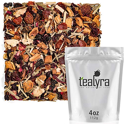 (Tealyra - Sweet Blueberry - Hibiscus - Lemongrass - Fruity Herbal Loose Leaf Tea - Caffeine-Free - Hot or Iced - 112g (4-ounce))
