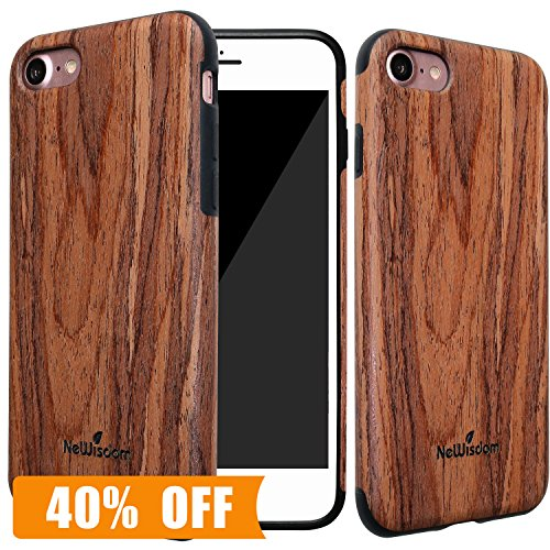 [Touch Wood for Luck] iPhone 7 Soft Wood Case, NeWisdom Unique Stylish...