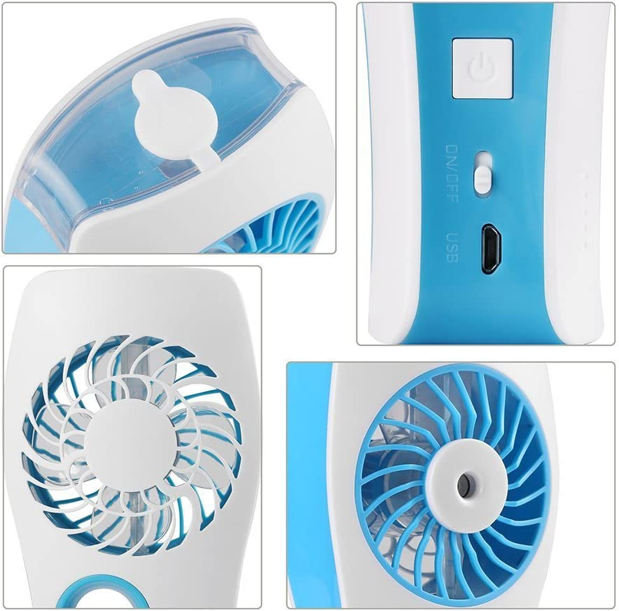 Travel and more Pink Trulanco Portable USB Misting Fan Built-in Rechargeable Battery and Personal Cooling Humidifier for Home Office