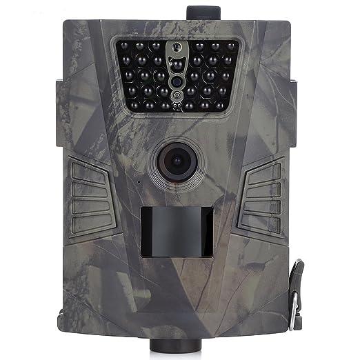 Life-Plus Cámara de Caza Vigilancia 90 Grados 720P HD PIR Sensor de Movimiento Cámara Impermeable 30pcs IR Leds Visión Nocturna hasta 20m para Fauna ...