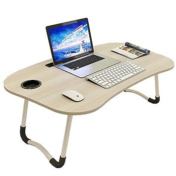 Mesa Portátil Plegable Computadora Escritorio- Bandeja De Cama ...