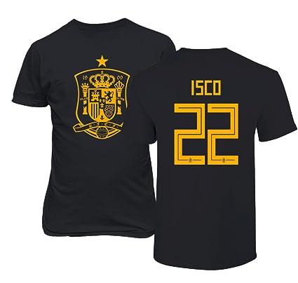6c8924cb9 Tcamp Spain 2018 National Soccer  22 ISCO World Championship Men s T-Shirt  (Black