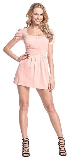 Glamour Empire. Damen Jersey Top quadratischen Ausschnitt Kurzarm M-3XL. 408:  Amazon.de: Bekleidung