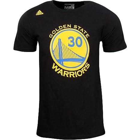 uznane marki nowy przyjeżdża szeroki zasięg adidas Stephen Curry Golden State Warriors Black Jersey Name and Number  T-Shirt