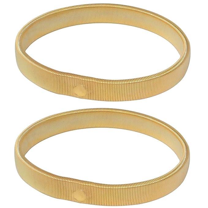 Men/'s Sprung Shirt Sleeve Holder Armbands In Black Silver Or Gold