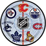 Unique NHL Hockey Paper Cake Plates, 8Ct, Multicolor