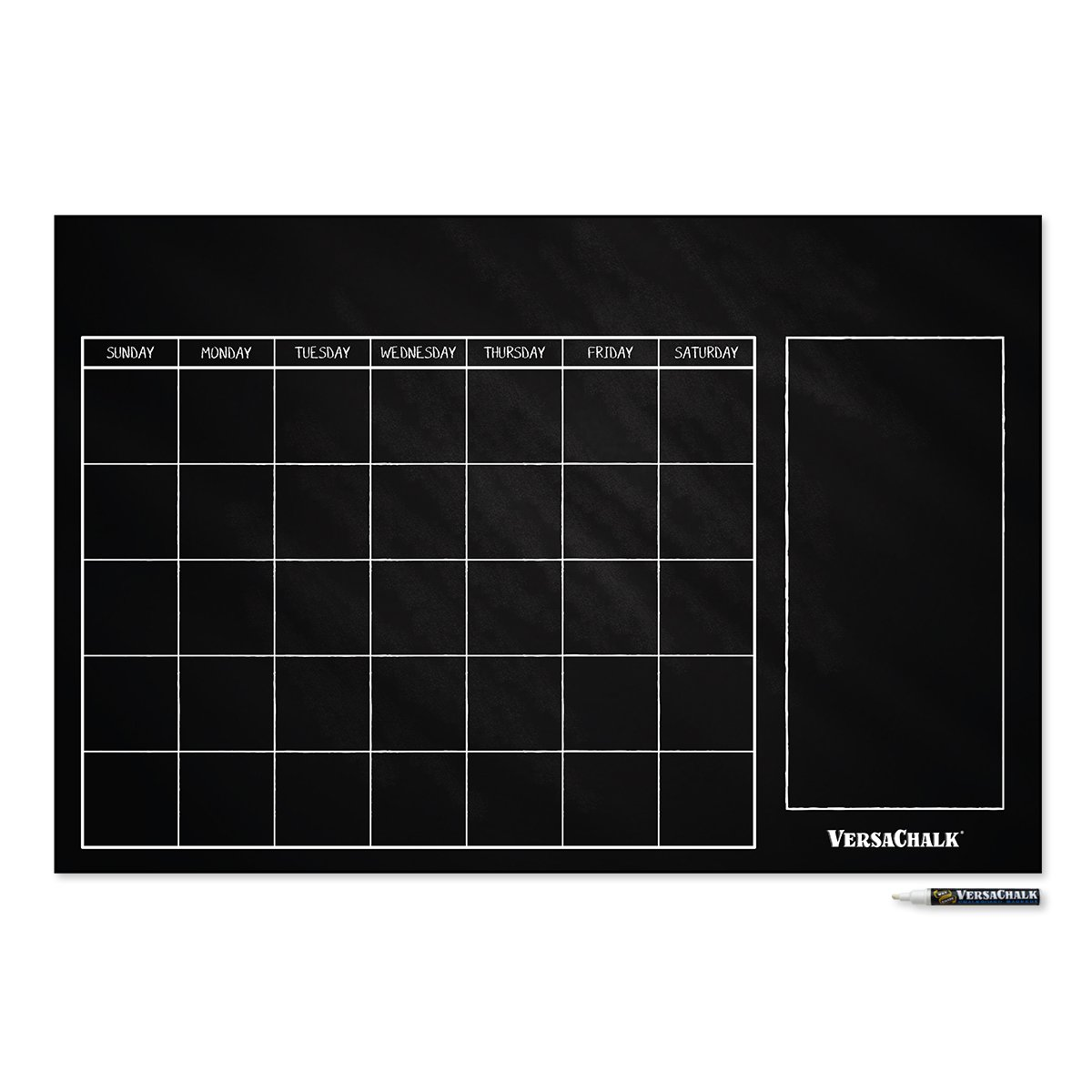 Large Erasable Chalkboard Calendar Wall Decal Sticker - 24x 36 by VersaChalk