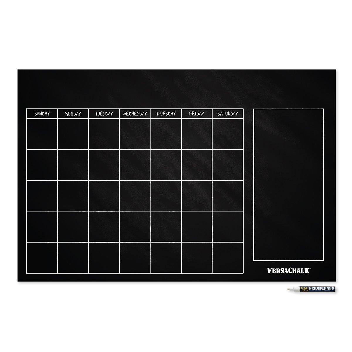 Grande Calendario Lavagna Cancellabile Adesivo, Decalcomania, Wall Décor – cm 61x91 (Stile Classico) di VersaChalk