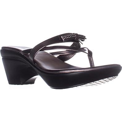 db80f3426f67 Callisto of California Womens Lassye Thong Wedge Sandals Gray 9.5 Medium  (B