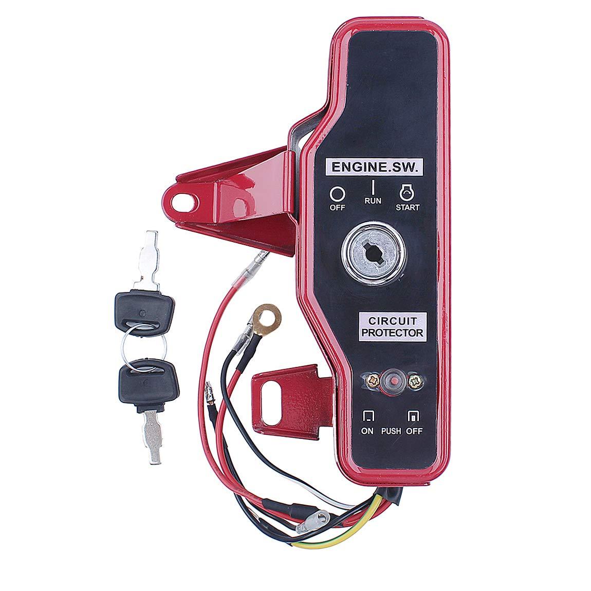 Haishine Ignition Switch Box with Keys Fit Honda GX160 GX200 5.5HP 6.5HP Engine & Clone by Haishine
